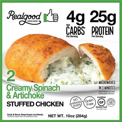 Real Good Frozen Stuffed Chicken Spinach & Artichoke - 10oz/2ct
