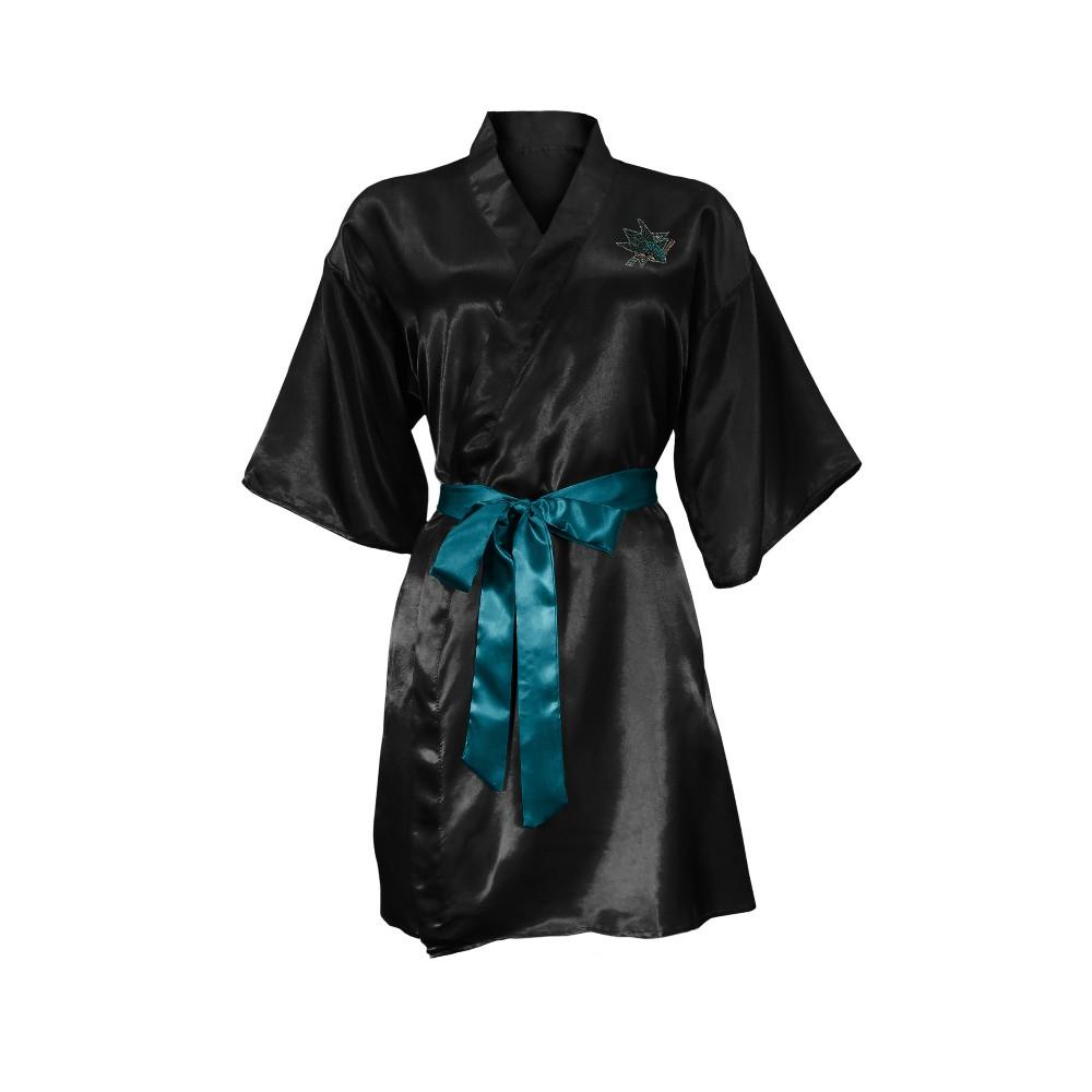 San Jose Sharks Satin Kimono - S/M, Girl's, Multicolored