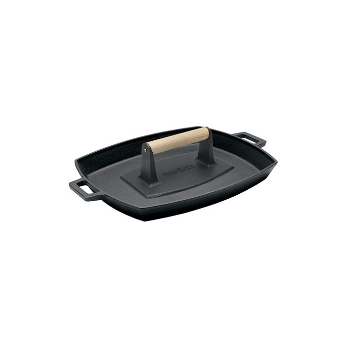 Bayou Classic Cast Iron Bacon Press and Pan Set - image 1 of 2