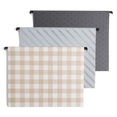 6ct Design Hanging File Folders - UBrands