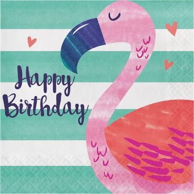 """48ct """"Happy Birthday"""" Party Napkins"""