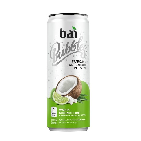 Bai Bubbles Waikiki Coconut Lime - 11.5 fl oz Can - image 1 of 2