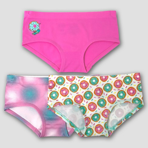 Girls' Donut Print 3pk Hipster Briefs - Pink/Teal - image 1 of 1