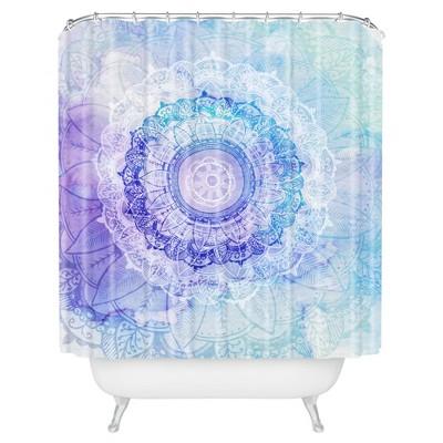 Floral Shower Curtain Blue - Deny Designs