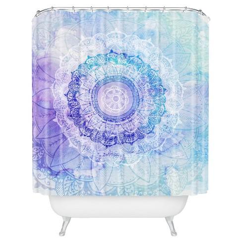 Floral Shower Curtain Blue