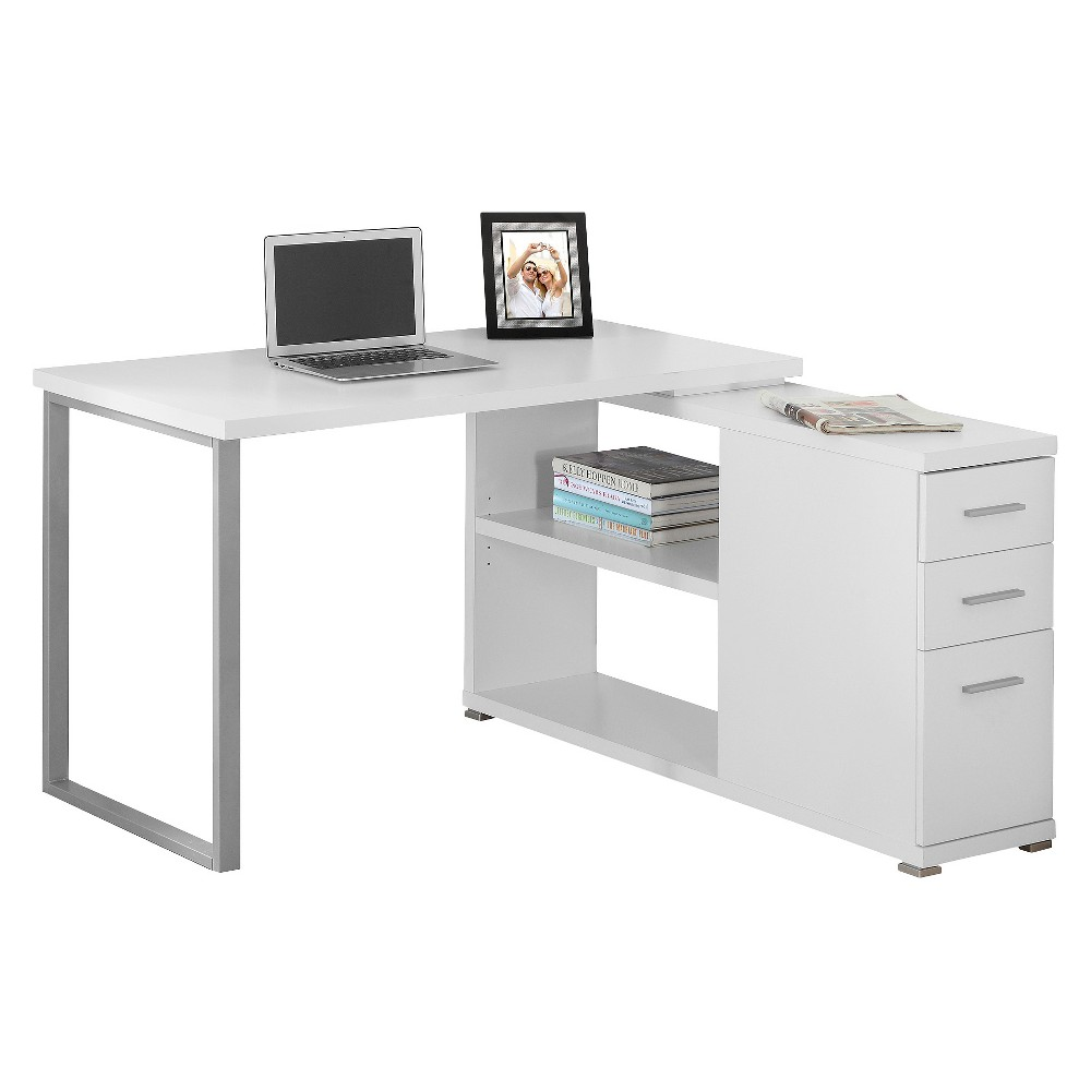 Image of Computer Desk with Facing Corner - White - EveryRoom