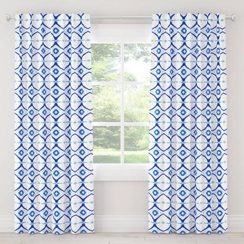 Alena Blackout Curtain Panel Dye Blue - Cloth & Co. - image 1 of 4