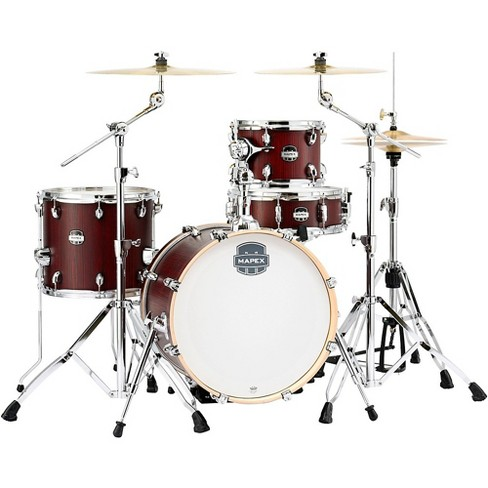 """Mapex Mapex Mars Series 4-Piece Bop Shell Pack with 18"""" Bass Drum Bloodwood Chrome - image 1 of 3"""