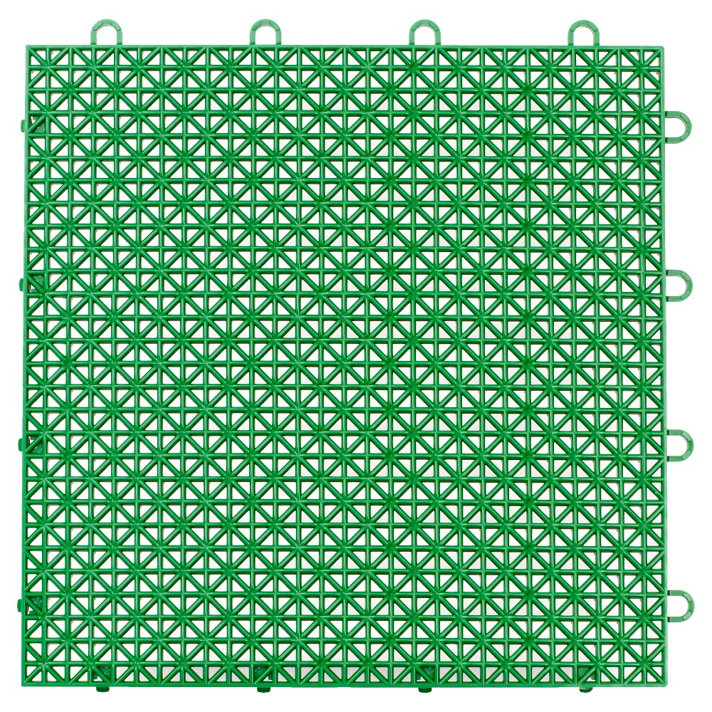 "Image of ""12""""x12"""" Armadillo Floor Tile 9 Pack - Extreme Green"""