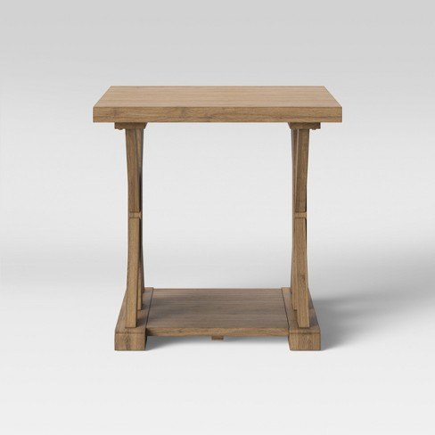 Litchfield Farmhouse Wood End Table with Shelf Wheat - Threshold™ - image 1 of 3