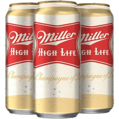 Miller High Life Beer - 4pk/16 fl oz Cans