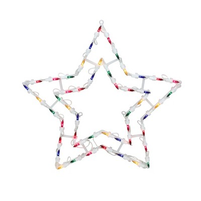 "Northlight 16"" Multi-Color Lighted Star Christmas Window Silhouette Decoration"