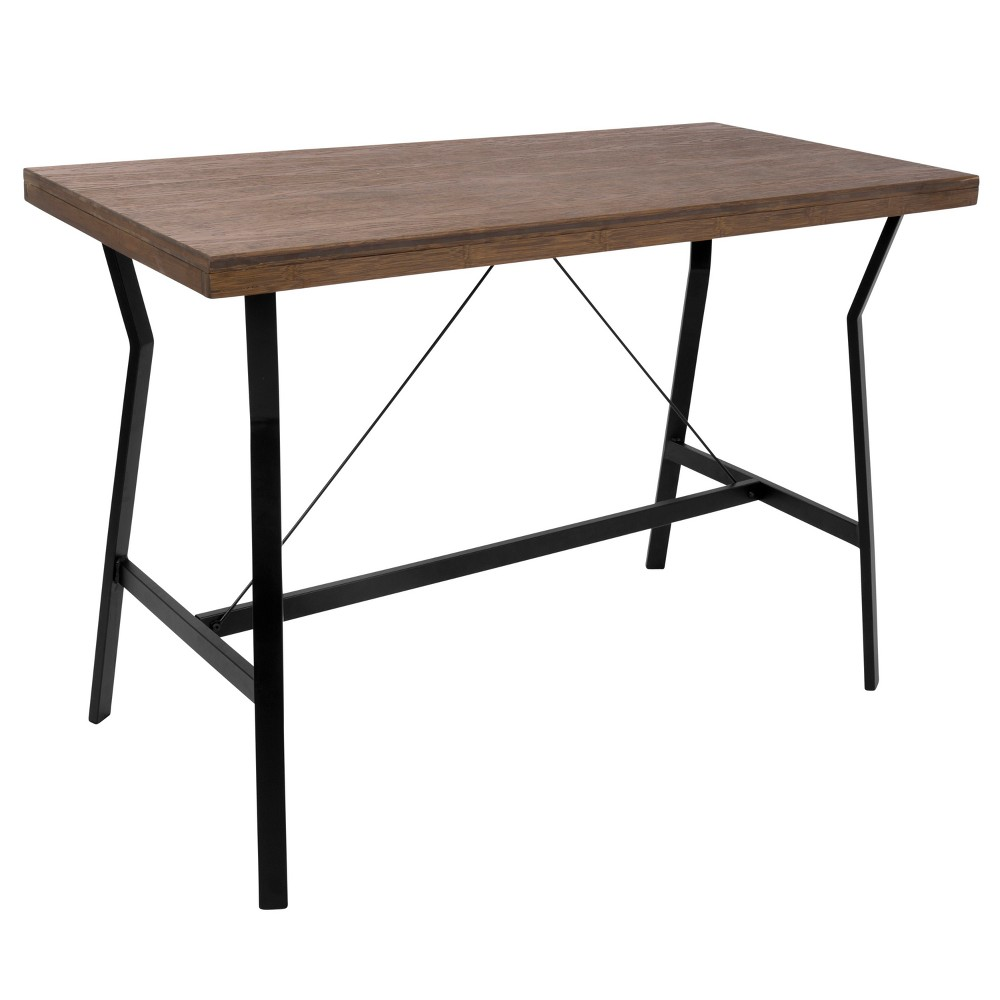 Wishbone Industrial Counter Table Walnut Black - Lumisource