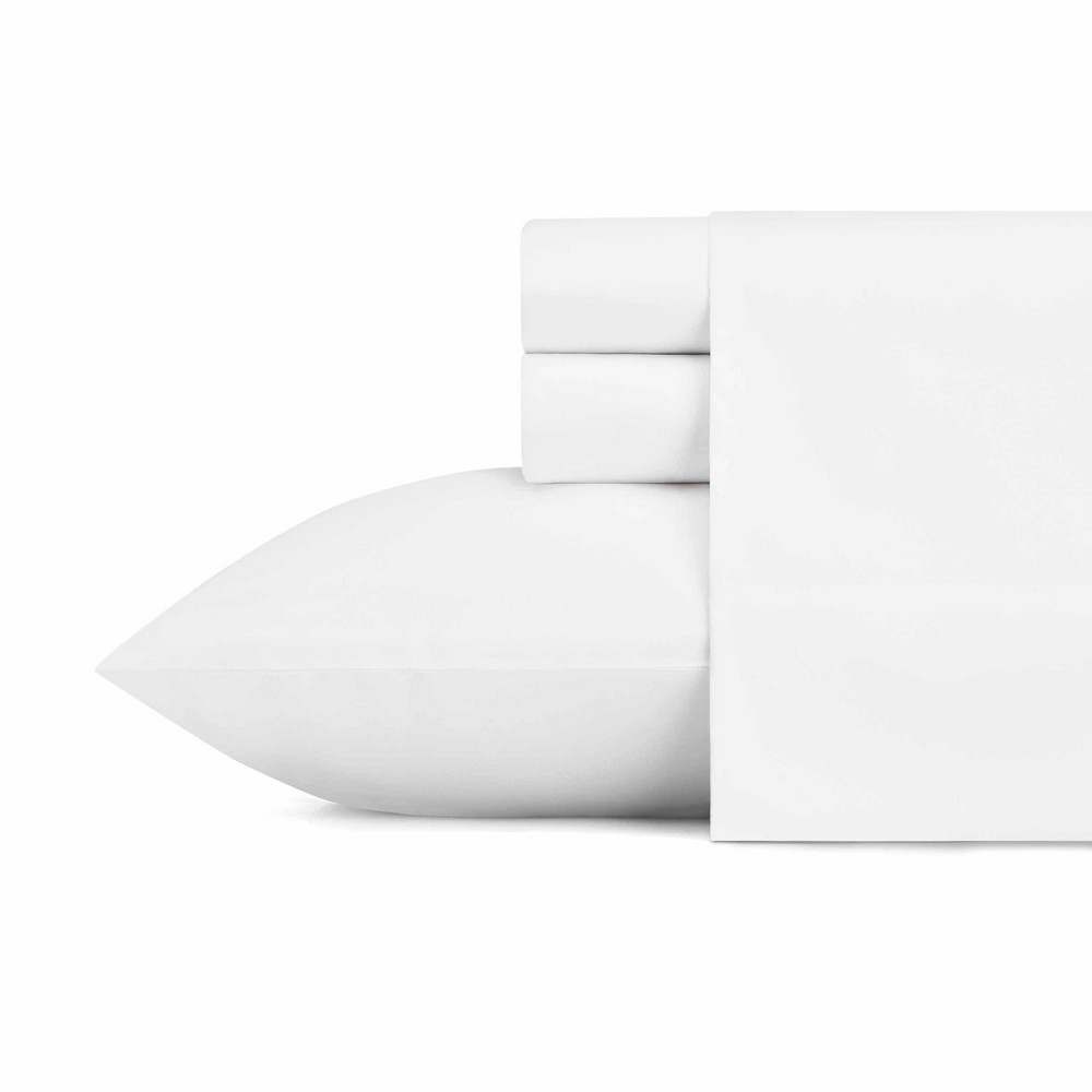 Image of Full Solid Microfiber Sheet Set White - Eddie Bauer
