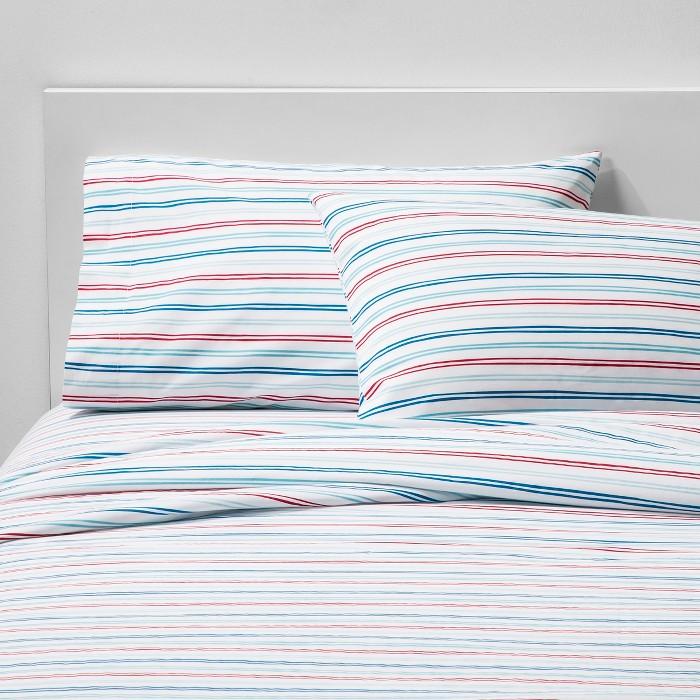 Super Striped Cotton Sheet Set - Pillowfort™ - image 1 of 5