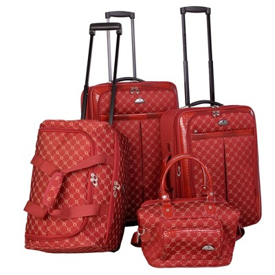 American Flyer Signature 4pc Softside Luggage Set - Red