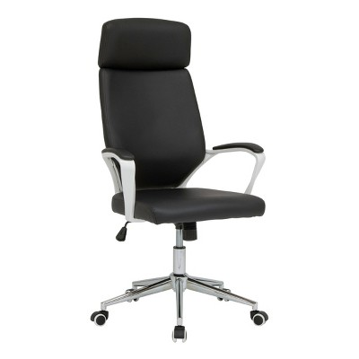 High Back Deluxe Managers Chair White/Black - Calico Designs
