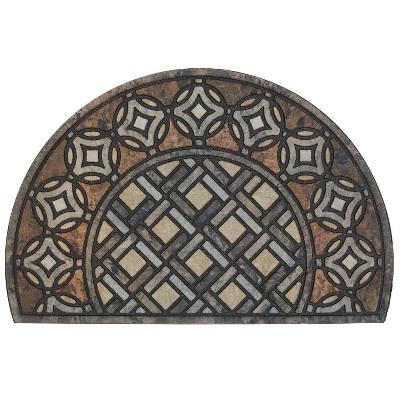 """1'11""""x2'11"""" Doorscapes Estate Mat Deco Tile Slice Brown - Mohawk"""
