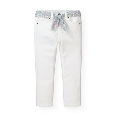 Hope & Henry Girls' Stretch Denim Skinny Jean with Fabric Belt, Kids