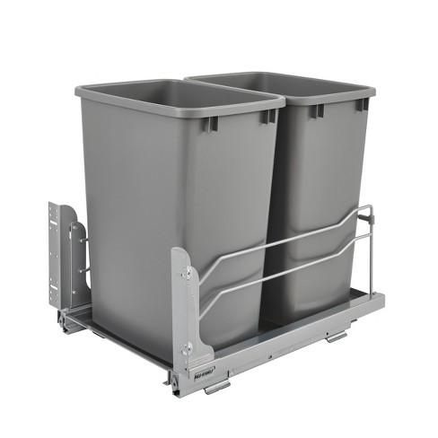 Rev A Shelf 53wc 1835scdm 217 Double 35, Kitchen Cabinet Trash Can Dimensions