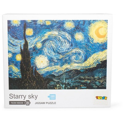 Toynk Starry Sky 1000-Piece Jigsaw Puzzle | Starry Night Puzzle 1000 | Van Gogh Puzzle