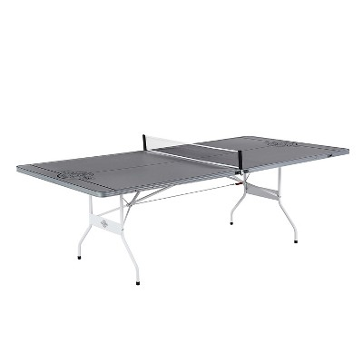 Lancaster Portable Indoor and Outdoor Silver Aluminum Folding Table Tennis Ping Pong Game Table