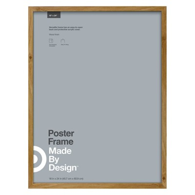 """18"""" x 24"""" Poster Frame Brown - Made By Design™"""