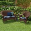 Aurora Stripe Wicker Settee Cushion Sapphire - Arden Selections - image 2 of 2