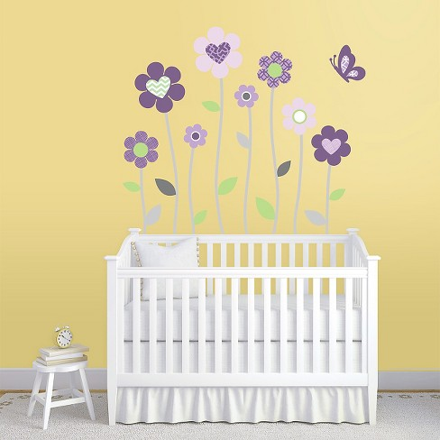 Purple Blossoms Nursery Wall Decals Xl
