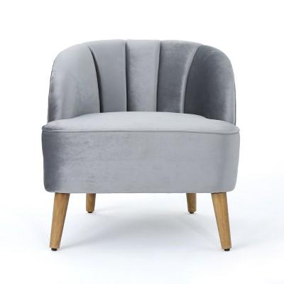 Amaia Modern New Velvet Club Chair - Christopher Knight Home
