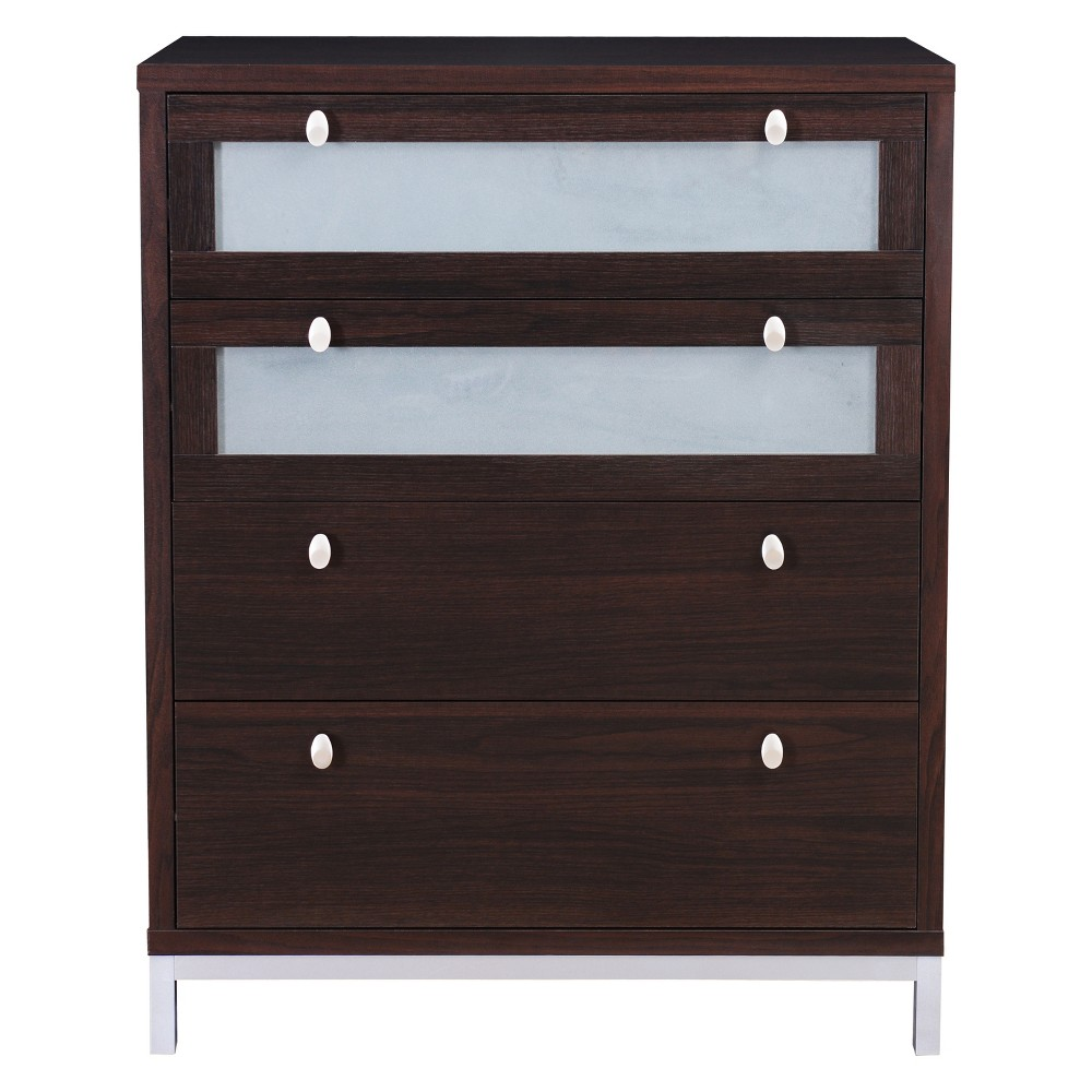 Vince 4 Drawer Chest Roasted Coffee - miBasics, Brown