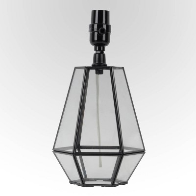 Small Terrarium Table Lamp Base Black - Threshold™