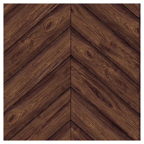 Tempaper Herringbone Removable Wallpaper Walnut Target