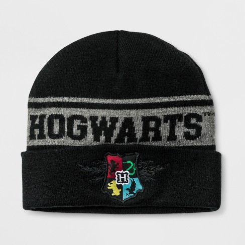 Kids' Harry Potter Cuffed Beanie - Black One Size - image 1 of 1