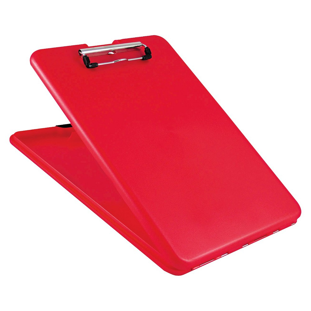 "Image of ""Saunders 8 1/2 x 12 SlimMate Storage Clipboard, 1/2"""" Capacity- Red"""
