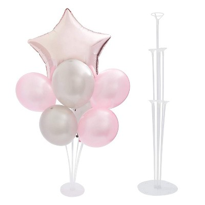 4 Set of Balloon Stand Kit, Reusable Clear Balloon Stand for Party Decorations