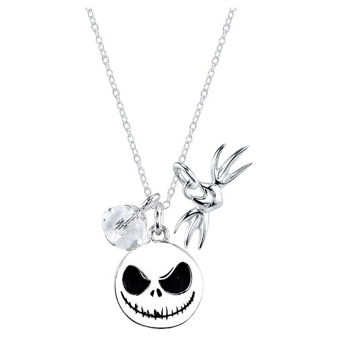 "Women's Sterling Silver ""Nightmare before Christmas Jack skellington"" Necklace - Silver (18"") - image 1 of 3"