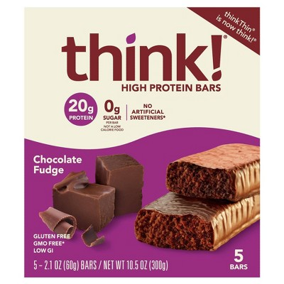 think! High Protein Chocolate Fudge Bars - 5ct