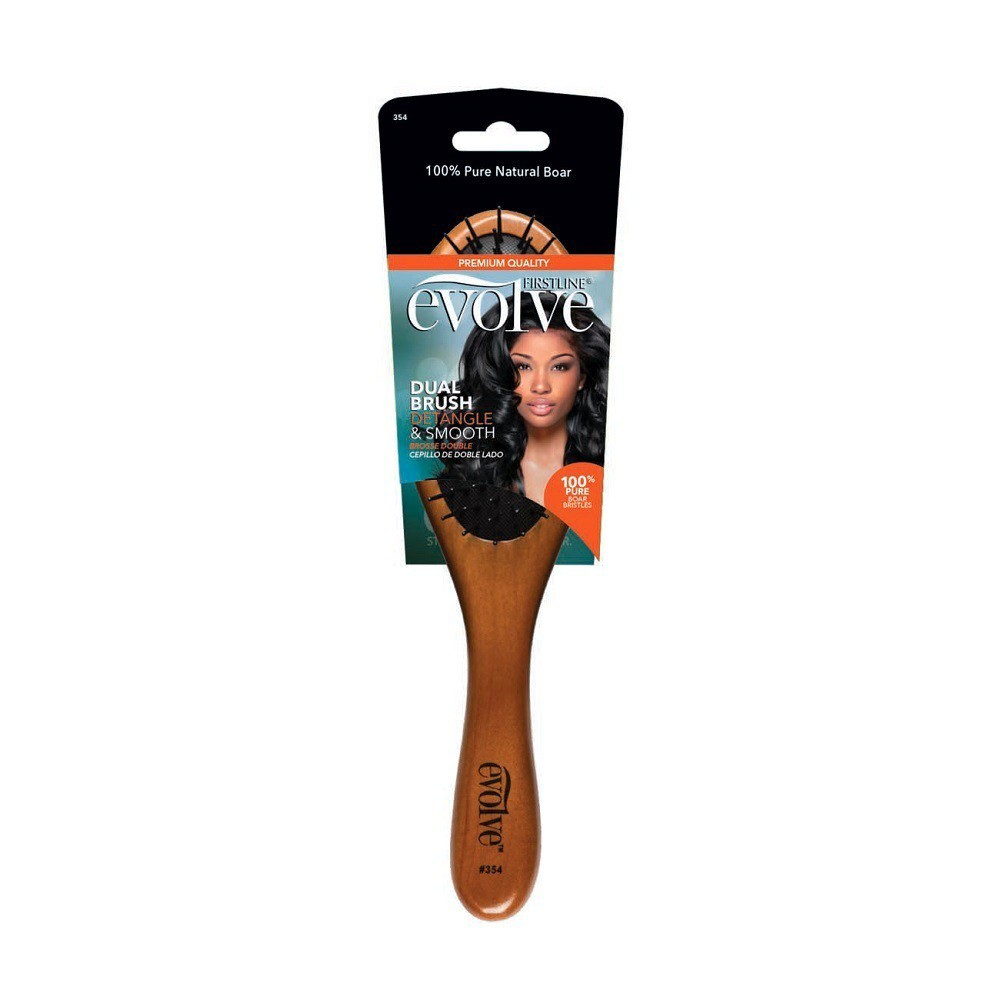 Evolve Double-Sided Paddle Boar Brush, Brown