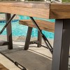 Catriona 3pc Acacia Wood Picnic Table - Teak Finish - Christopher Knight Home - image 4 of 4