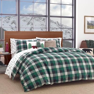 King Birch Cove Plaid Comforter Set Green - Eddie Bauer