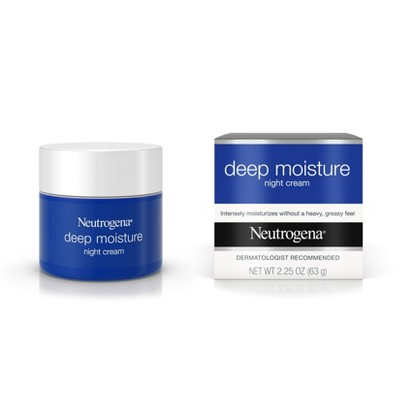 Facial Moisturizer: Neutrogena Deep Moisture Night Cream