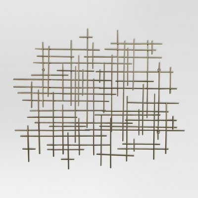 36 x30  Mid-Century Metal Wall Décor Gold - Project 62™