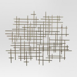 "36""x30"" Mid-Century Metal Wall Dcor Gold - Project 62™"