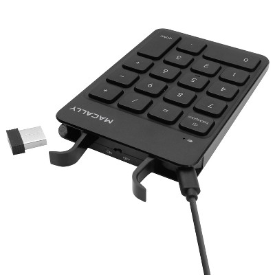 Macally RF Wireless Portable 18 Numeric Keypad Keyboard - 18 Keys