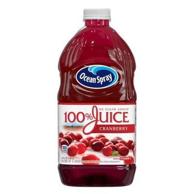 Ocean Spray 100% Juice Cranberry Blend – 64 fl oz Bottle