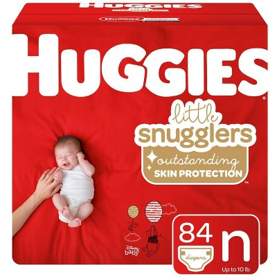 Huggies Little Snugglers Diapers Super Pack - Size Newborn (84ct)