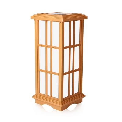 "24.5"" Solar Zen Outdoor Lantern White/Amber Light - Techko Maid"