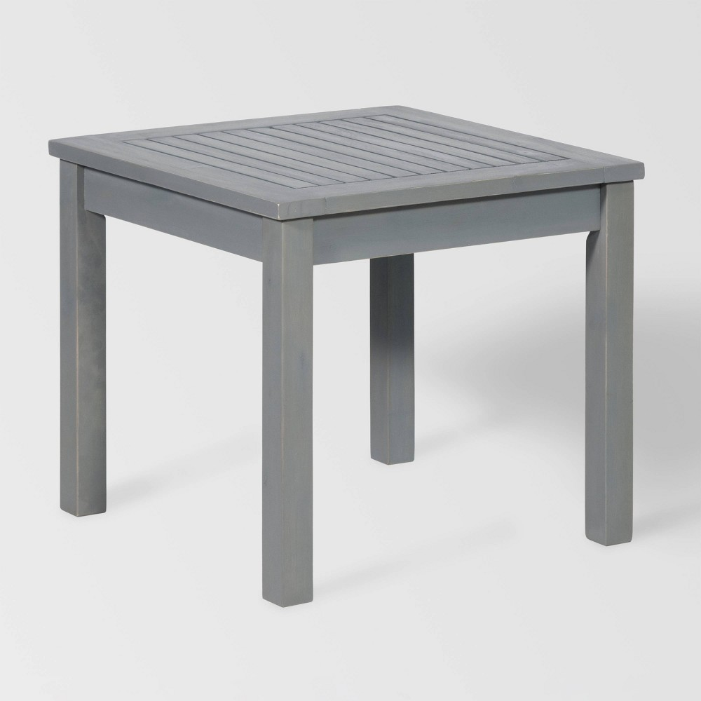 "Image of ""20"""" Simple Outdoor Side Table Gray - Saracina Home"""
