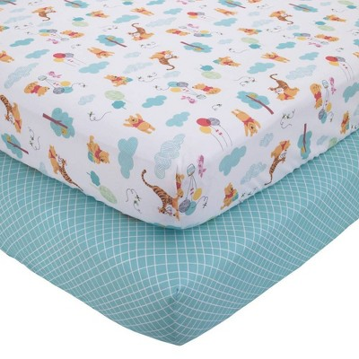 Disney Winnie The Pooh First Best Friends Fitted Crib Sheets - 2pk